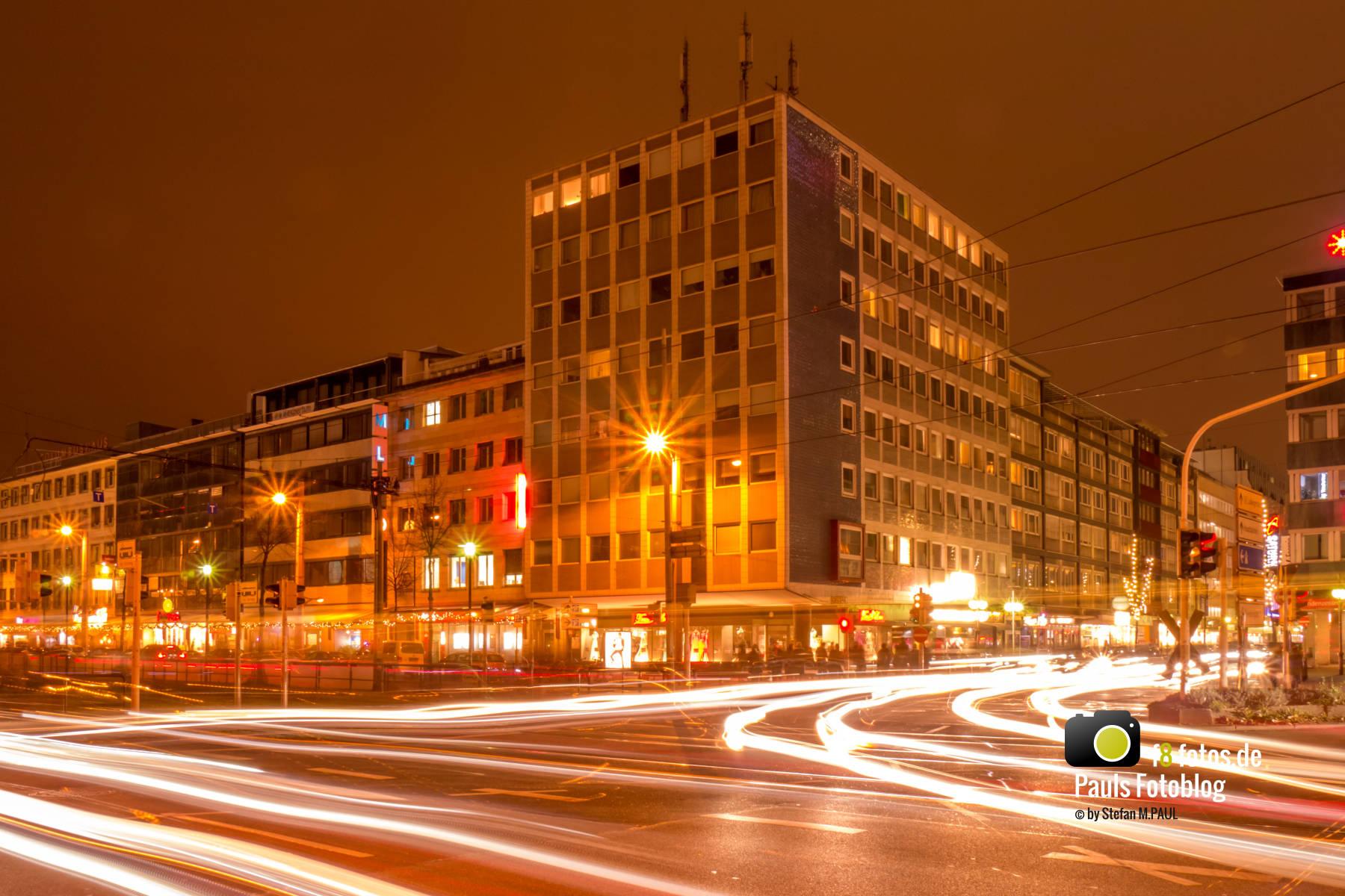 Lichtstreifen in Mannheim