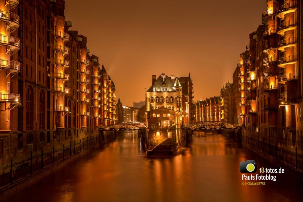 Speicherstadt Hamburg in der Nacht