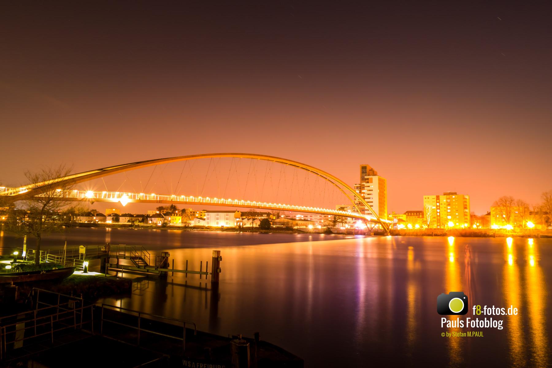 Weil am Rhein Dreiländerbrücke 2016 Nachts