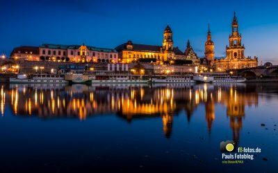 Altstadt von Dresden am Elbeufer