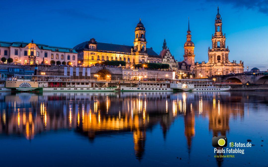 Elbeufer Dresden mit Altstadt