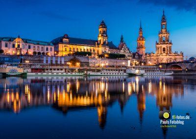 Dresden Altstadt am Elbeufer