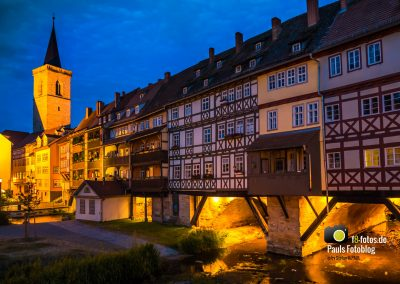 Krämerbrücke Erfurt zur blauen Stunde