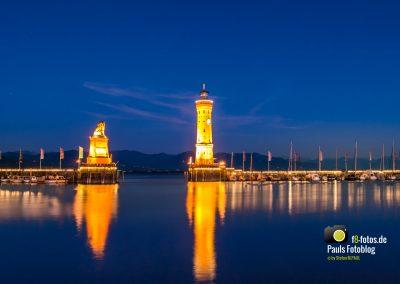 Hafen in Lindau zur blauen Stunde