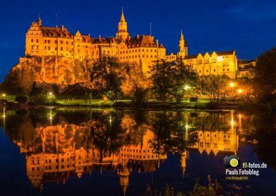 Schloss Sigmaringen zur blauen Stunde